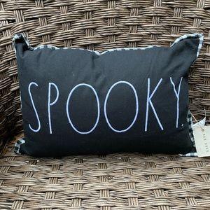 Rae Dunn Spooky Black Throw Pillow
